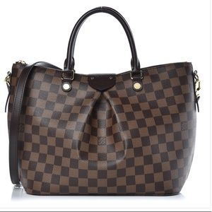 AUTHENTIC LOUIS VUITTON Damier Ebene Siena PM